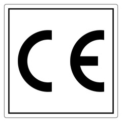 CE Mark Symbol Sign, Vector Illustration, Isolate On White Background Label .EPS10
