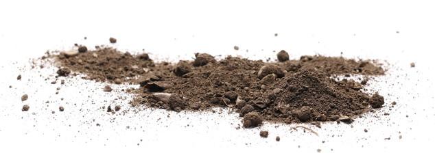 Fototapeta Dirt, soil isolated on white background obraz