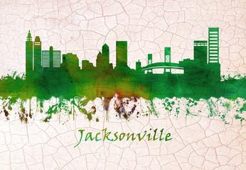 Fototapete - Jacksonville Florida skyline