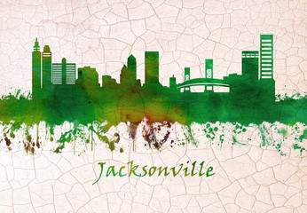 Wall Mural - Jacksonville Florida skyline