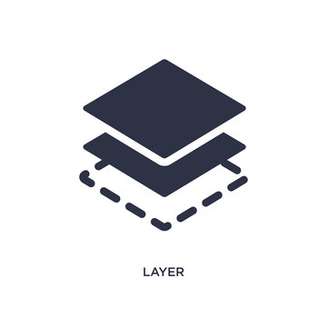 layer icon on white background. Simple element illustration from geometry concept.