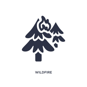 wildfire icon on white background. Simple element illustration from weather concept.