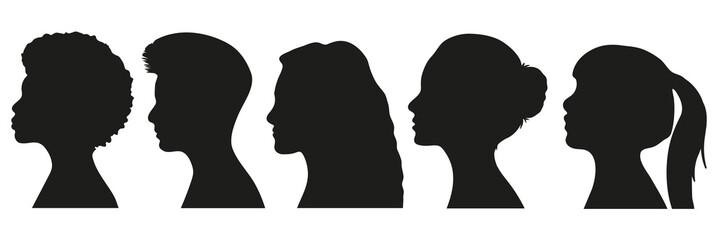 Frauen Silhouetten Set Wall mural