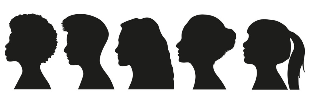Frauen Silhouetten Set