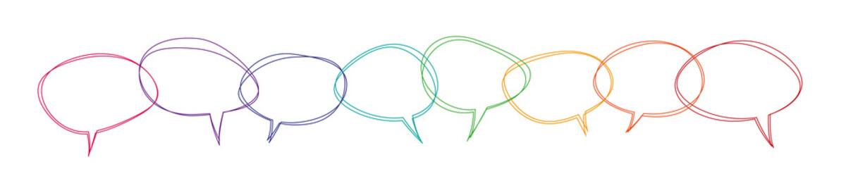 Speech bubbles colorful banner vector