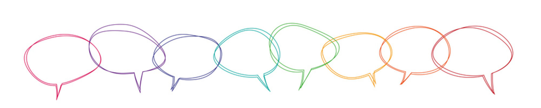 Speech bubbles colorful banner vector