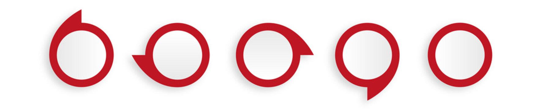 rote Sprechblasen modern