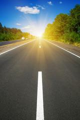Fototapete - Asphalt car road