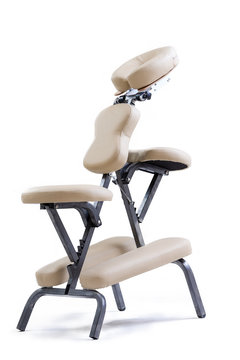 massage chair for therapist beige, isonated on white
