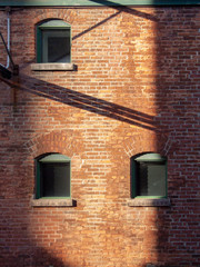 window in brick wall