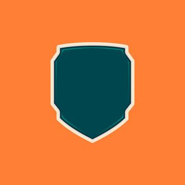 Unique futuristic tech blank shield badge shape template