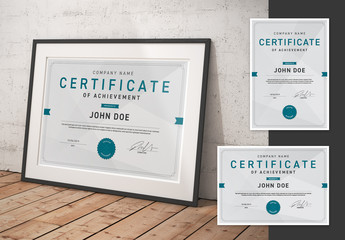 Portrait and Landscape Certificates with Signature Layout