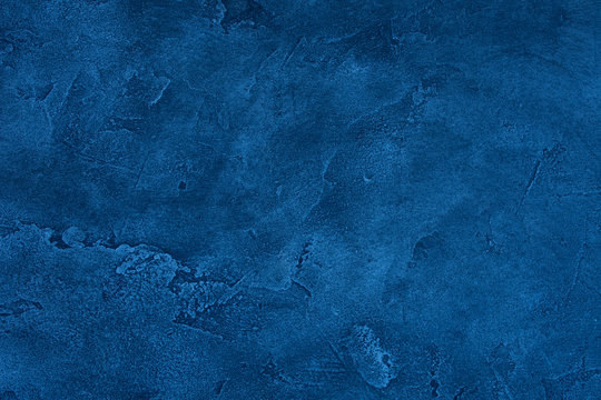 Blue grunge marble or concrete background (as an abstract grunge background or marble or concrete texture)