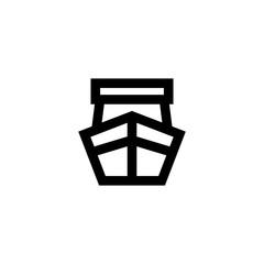 Ship icon. Kargo transportation sign