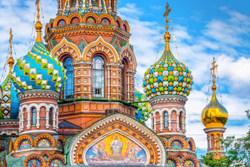 Church of the Savior on Spilled Blood, St Petersburg Russia Fototapete