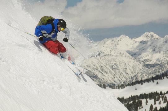 Tony Siebert skiing colorado backcountry.
