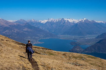 Trekking on Lake Como Alps