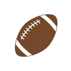 American football. Sport ball for american football. Vector icon isolated on white background. Vector silhouette. Flat illustration.