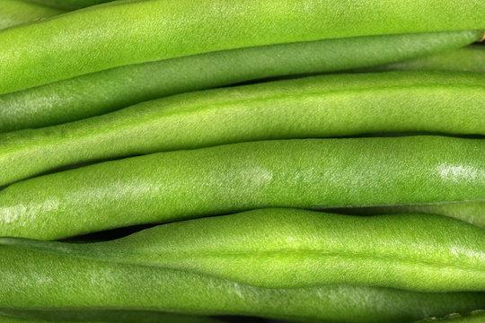 Closeup Macro Image of Green String Beans