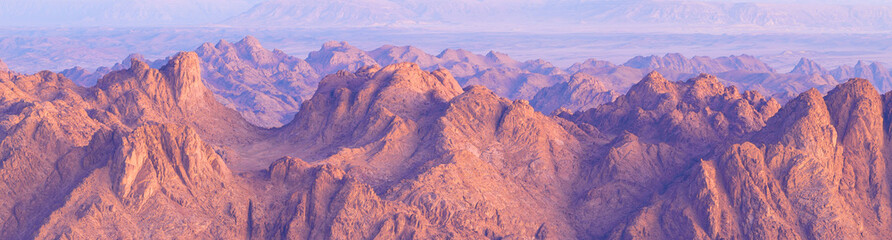 Acrylic Prints Purple Amazing Sunrise at Sinai Mountain, Beautiful dawn in Egypt, Beautiful view from the mountain