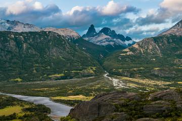 Landscape of Carretera Austral, Villa Cerro Castillo, XI Region, Chile