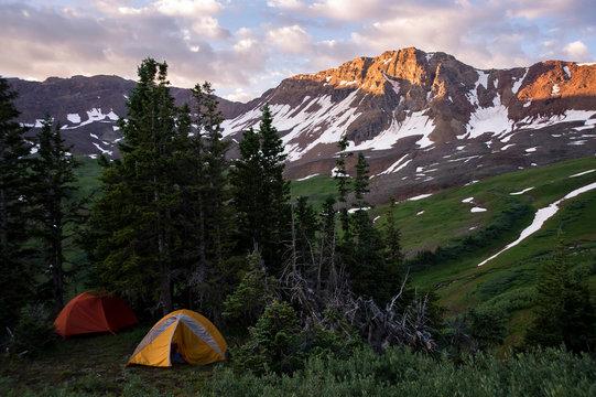 Camping in Maroon Bells Snowmass Wilderness, Aspen, Colorado, USA