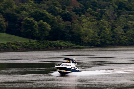 Speed Boat on the Ohio River