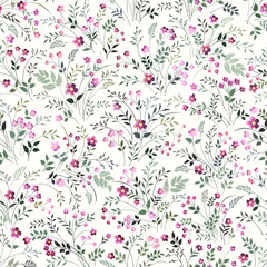 seamless floeal pattern with meadow flowers