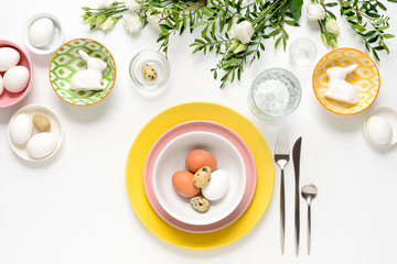 Easter dinner table setting