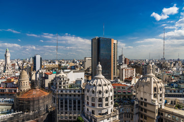 Aerial view of Buenos Aires downtown, Argentina, on a sunny day