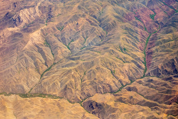 Aerial view of Kashmir mountains