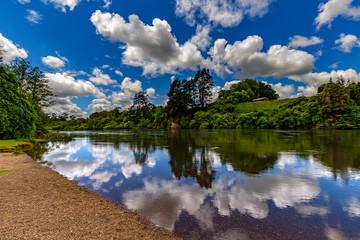 New Zealand, North Island, Waikato Region. Waikato River near Hamilton Gardens (Hamilton city)
