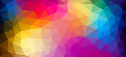 Flat horizontal bright color geometric triangle wallpaper
