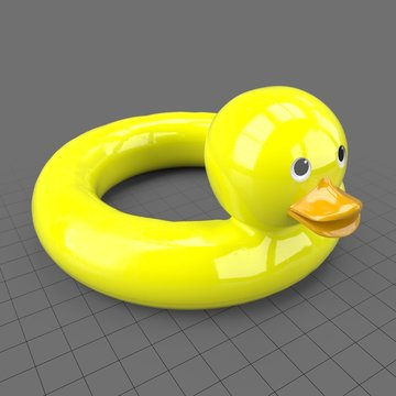 Inflatable duck pool toy