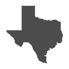 Wall Mural - Texas map icon. vector Texas shape isolated on white background.