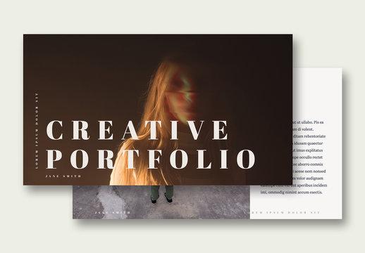 Portfolio Layout with Photo Placeholders