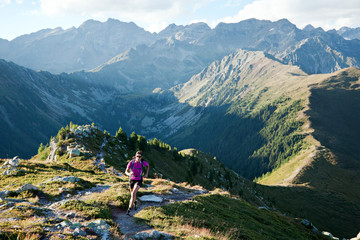 Trail running in the Zillertal Alpen