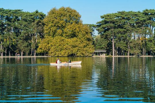 Boat in Lac Inferieur, Paris, France