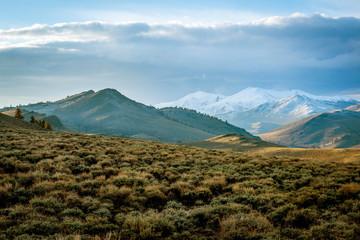 Clouds over Sierra Nevada mountain range