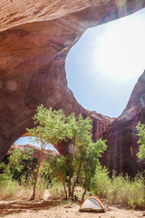 Tent in canyon, Grand?Staircase-Escalante?National Monument, Utah, USA