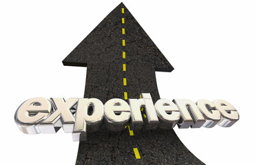 Experience Life Good Times Road Arrow Word 3d Illustration