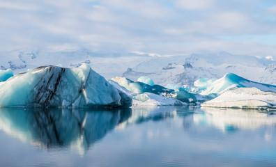 Iceland Glacier Lake Scenery