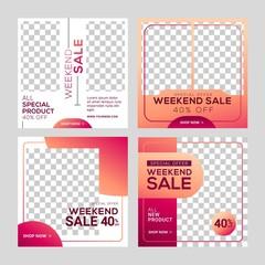Fototapeta Editable Social Media Post Template Banners ad for Digital Marketing obraz