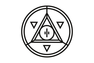 Pyramid Eye money coin icon. The coin depicts the Masonic symbol - the all-seeing eye.