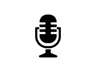 microphone glyph vector icon