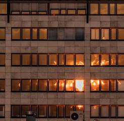 Bürogebäude in der Abendsonne