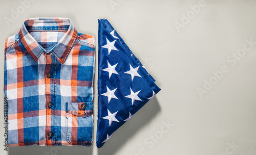 Patriotic 4th of July clothing concept