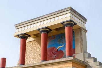 Der Palast von Knossos bei Heraklion, Kreta