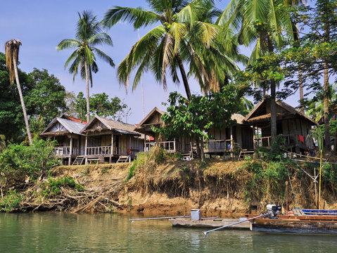 Mekong river, Champassak, Laos, Pakse
