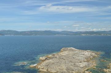 Beautiful Views Of The Bay Of Puerto Del Son. Nature, Architecture, History, Street Photography. August 19, 2014. Porto Do Son, La Coruña, Galicia, Spain.
